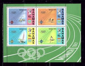 Bahamas 338a MNH 1972 Olympics S/S