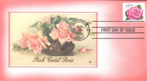 #3052 Pink Rose Foust FDC