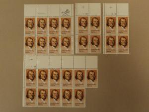 USPS Scott 2038 20c 1983 Joseph Priestley Lot of 4 Plate ...