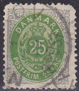 Denmark #32 F-VF Used  CV $40.00  (Z6289)