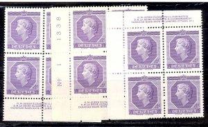 Canada #330 Pl1,  LR,LL,UL Plate Blocks Mint VF NH
