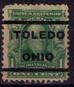 US Sc #300 Used Precancel Toledo Ohio F-VF