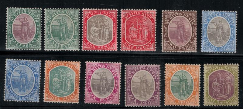 St. Kitts and Nevis SC 11-21,19s Mint 1905-1918 SCV$ 173.85 Set