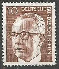 BERLIN, 1970, mint 10pf Pres Heinemann Scott 9N286
