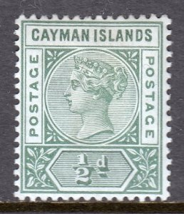 Cayman Islands - Scott #1 - MH - Heavy old-time hinge - SCV $11