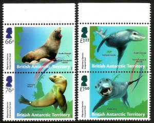 BAT British Antarctic Territory 2018 Seals Migratory Species 4v Set Of Stamps UM