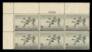 momen: US Stamps #RW12 Plate Block of 6 MNH OG VF/XF
