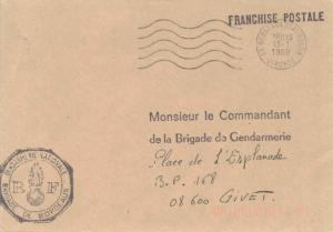 France Military Free Mail 1989 33 Bordeaux St. Augustin, Gironde to Le Comman...
