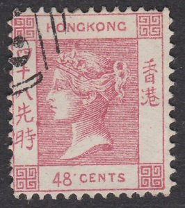 HONG KONG  An old forgery of a classic stamp................................D756