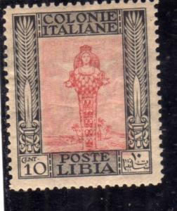 LIBIA 1921 PITTORICA CENT. 10c MLH BEN CENTRATO