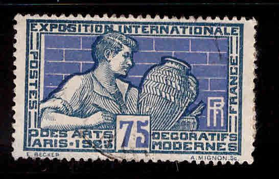 France Scott 224 used 1925 Paris Arts Expo stamp