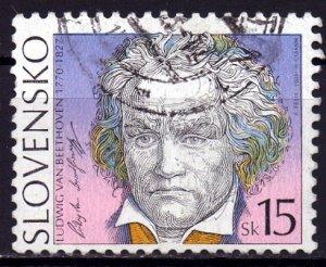 Slovakia. 2003. 451. Beethoven. USED.