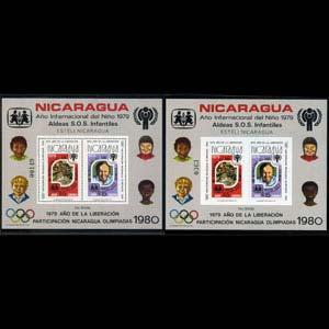 NICARAGUA 1980 - Michel# B110A-B S/S(2)Year of Child NH