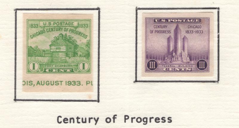 US 1935 Century of Progress Issue 2 Stamps Scott 766a-767a MH
