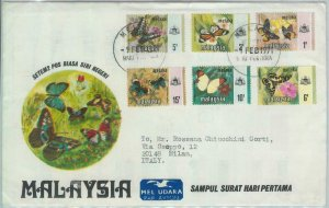 82303 - MALAYA  - FDC Cover 1971 + INFORMATION LEAFLET butterflies MELAKA