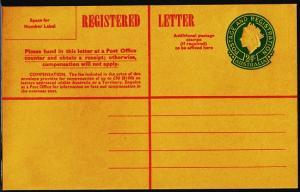 Australia. Registered Envelope(24c) Unused