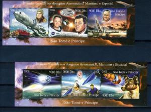 Sao Tome and Principe  2006 Halley's Comet/Kennedy/TableTennis 2 Shlt MNH