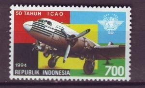 J25130 JLstamps 1994 indonesia set of 1 mnh #1595 airplane