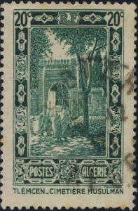 ALGÉRIE / ALGERIA - 1936 20c green Yv.107/Mi.109 - Very Fine Used