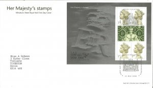 Her Majesty's Stamps Miniature Sheet Royal Mail FDC The Stamp Show 2000 - Z9333
