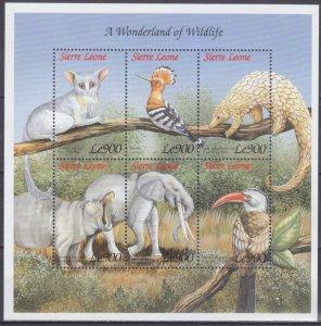 1999 Sierra Leone 3241-46KL Fauna - Elephants 9,00 €