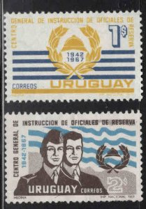 Uruguay Scott 773-774 MH* stamp set