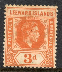 Leeward Islands: 1937 KGVI 3d SG 107 mint