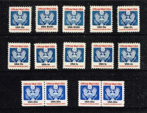 US STAMP # BOB OFFICIAL MAIL STAMP MNH STAMPS LOT