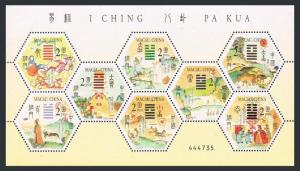 Macao 1080 ah sheet,1081.MNH. I Ching,2001.Animals.Horses,birds,turtle.