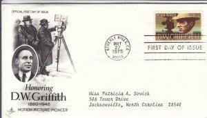 1975, Honoring D. W. Griffith, Artcraft, FDC (D15182)