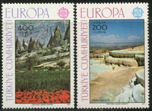 TURKEY Sc#2051-2052 1977 Europa Issue Complete OG Mint NH