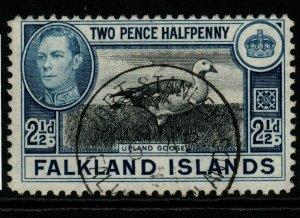 FALKLAND ISLANDS SG152 1949 2½d BLACK & BLUE FINE USED