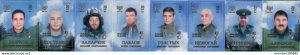 DONETSK - 2017 - Heroes of the Republic - Imperf 8v Set - Mint Never Hinged