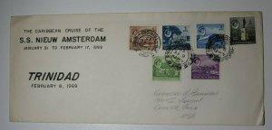 Trinidad & Tobago Caribbean Cruise SS Nieuw Asterdam 1969 Souvenir Cover 89-94