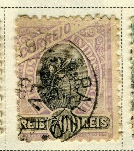 BRAZIL; 1894 early classic issue fine used 700r. value