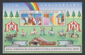 Norfolk Island 1985 Royal Show Miniature Sheet Sc#372a MNH
