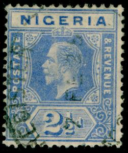 NIGERIA SG21, 2½d bright blue, used. Cat £11.
