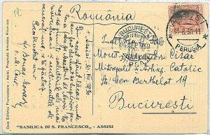 ITALIA REGNO - STORIA POSTALE: FLOREALE  su CARTOLINA - destinazione: ROMANIA