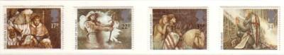 Great Britain Sc 1115-18 1985 Arthurian Legends stamp set mint NH