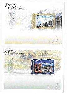 Maldives Maldive islands 2000 Millennium S/S Sc 2452-2454 MNH C3