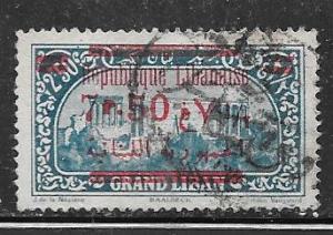 Lebanon #99  overprinted in red (U) CV $6.00