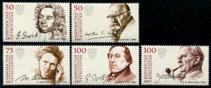 HERRICKSTAMP NEW ISSUES KYRGYZSTAN-KEP Sc.# 72-76 Famous Persons (Marie Curie)