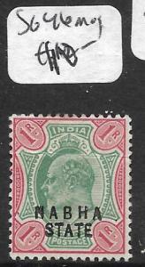 INDIA NABHA (P2509B) KE 1R  SG 46  MOG