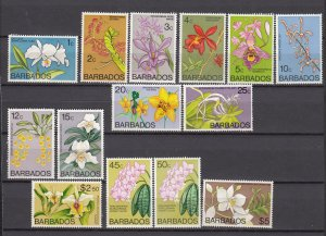 J26625 JLstamps 1974-7 barbados mnh/mlh #396//410 flowers