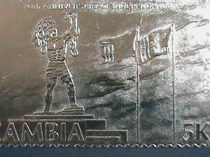 Zambia  Stamp: 1985-SC#330b-24K- Gold- 20th Anniversary- Independence Day -  S