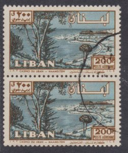 Lebanon Airmail # C302 , Maameltein Casino , F-VF used Pair - I Combine S/H