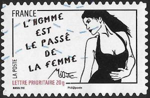 France 3977 Used - Art of Miss.Tic (Radhia de Ruiter) - ‭L' homme est...