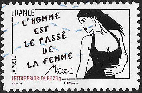 France 3977 Used - Art of Miss.Tic (Radhia de Ruiter) - L' homme est...
