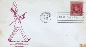880 2c JOHN PHILIP SOUSA - 1st Simplicity Concert Band cachet