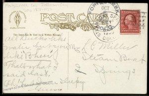 USA 1909 FORKSCREEK Colorado STEAMBOAT DPO Cover Postcard 94217